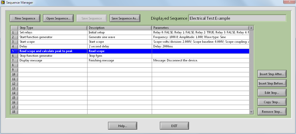 Sequence Manager (Electrical Example)